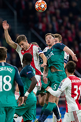 08-05-2019 NED: Semi Final Champions League AFC Ajax - Tottenham Hotspur, Amsterdam<br /> After a dramatic ending, Ajax has not been able to reach the final of the Champions League. In the final second Tottenham Hotspur scored 3-2 / Rasmus Kristensen #2 of Ajax, Jan Vertonghen #5 of Tottenham Hotspur, Matthijs de Ligt #4 of Ajax