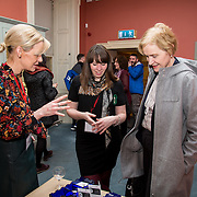 26.01.17<br /> Pictured at the launch of the Communities of Culture Report in The Hunt Museum were, Maria Cagney, Hunt Museum, Eileen Humphries, Limerick City and County Council and Foina Byrne. Picture: Alan Place