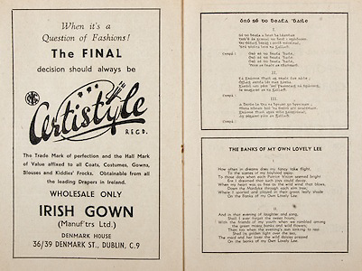 All Ireland Senior Hurling Championship Final,.Programme,.07.09.1952, 09.07.1952, 7th September 1952, .Cork 2-14, Dublin 0-7,.Minor Dublin v Tipperary,.Senior Cork v Dublin, .Croke Park, ..Advertisements, Certistyle Irish gown, ..Poems, Oro Se Do Beata Baile, The Banks of My Own Lovely Lee,