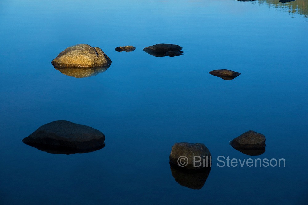 A photo of a circle of rocks in Donner Lake, Ca.