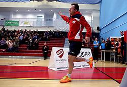 Ben Lane of Bristol Jets runs out to face the Surrey Smashers - Photo mandatory by-line: Robbie Stephenson/JMP - 06/02/2017 - BADMINTON - SGS Wise Arena - Bristol, England - Bristol Jets v Surrey Smashers - AJ Bell National Badminton League