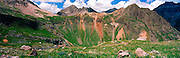 Panoramic view of Governor Basin, near Ouray, Colorado, USA; August 2010