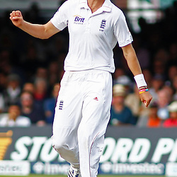 16/08/2012 London, England. England's Stuart Broad shouts catch during the third Investec cricket international test match between England and South Africa, played at the Lords Cricket Ground: Mandatory credit: Mitchell Gunn