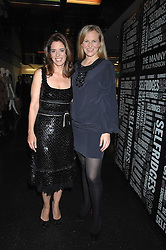 Left to right, HOLLY PETERSON and ALANNAH WESTON at a party to celebrate the launch of Holly Peterson's debut novel 'The manny' held at Selfridges, Oxford Street, London on 26th February 2007.<br />