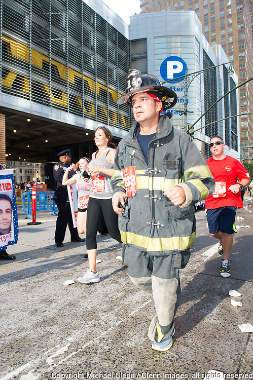 24 Sep 2017 Manhattan, New York United States of America // NEWARK Engine 14 FF running  the Stephen Siller Tunnel to Towers run at the World Trade Center site  Michael Glenn  /