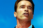 Actor Arnold Schwarzenegger challenged and defeated then-Governor Gray Davis of California in a Recall election in 2003. On the first day of the campaign bus tour throughout California, the gubernatorial candidate had to face charges of alleged sexual harassment of six women as well as an old article quoting him admiring Adolf Hitler as a leader.