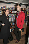 Emma Reeves and Brian Phillips, Book launch of Pretty Things by Liz Goldwyn at Daunt <br />Books, Marylebone High Street. London 30 November 2006.   ONE TIME USE ONLY - DO NOT ARCHIVE  © Copyright Photograph by Dafydd Jones 248 CLAPHAM PARK RD. LONDON SW90PZ.  Tel 020 7733 0108 www.dafjones.com