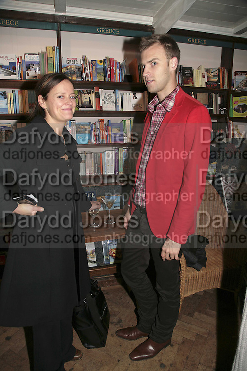Emma Reeves and Brian Phillips, Book launch of Pretty Things by Liz Goldwyn at Daunt <br />