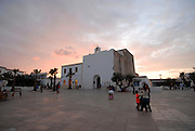 Church of Sant Francesc at sunset, Formentera