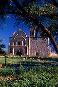 Front of Tumacacori Mission, mesquite tree in front,.Tumacacori National Historical Park, Tumacacori, Arizona...Rights & Usage:.No rights granted. Subject photograph(s) are copyrighted by ©1989 Edward McCain/McCain Photography. All rights are reserved except those specifically granted in writing prior to any use...McCain Photography.211 S 4th Avenue.Tucson, AZ 85701-2103.(520) 623-1998.mobile: (520) 990-0999.fax: (520) 623-1190.http://www.mccainphoto.com.edward@mccainphoto.com