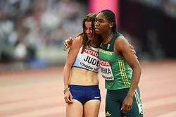 Jessica Judd of Great Britain with Caster Semenya - Mandatory byline: Patrick Khachfe/JMP - 07966 386802 - 04/08/2017 - ATHLETICS - London Stadium - London, England - Women's 1,500m Round 1 - IAAF World Championships