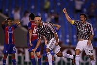 20091118: RIO DE JANEIRO, BRAZIL - South-American Cup 2009, Semi-Finals: Fluminense vs Cerro Porteno. In picture: Gum (Fluminense, L) and team mate Fred celebrating goal. PHOTO: CITYFILES