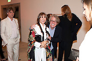 CHERYL COHEN; FRANK COHEN, Opening of Love is what you want. Exhibition of work by Tracey Emin. Hayward Gallery. Southbank Centre. London. 16 May 2011. <br /> <br />  , -DO NOT ARCHIVE-© Copyright Photograph by Dafydd Jones. 248 Clapham Rd. London SW9 0PZ. Tel 0207 820 0771. www.dafjones.com.