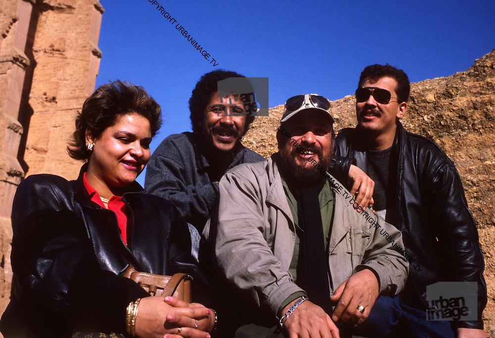 Rachid Baba, Chaba Fadela, Khaled and Cheb Sahraoui at  the Mansourah Tlemcen Algeria
