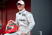Mercedes Grand Prix W03 Launch with Michael Schumacher (GER) on February 21, 2012: Formula One Testing, Circuit de Catalunya, Barcelona, Spain, World Copyright: Jamey Price