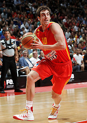 23.08.2013, Palacio de los Deportes, Madrid, ESP, Basketball Freundschaftsspiel, Spanien vs Frankreich, im Bild Spain's Victor Claver // during a Basketball international friendly between Spain and France, Palacio de los Deportes in Madrid, Spain on 2013/08/23. EXPA Pictures © 2013, PhotoCredit: EXPA/ Alterphotos/ Acero<br /> <br /> ***** ATTENTION - OUT OF ESP and SUI *****