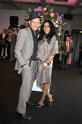 PAUL SIMONON and SERENA REES at the opening of 'The House of Viktor & Rolf' an exhibtion of designs by Viktor & Rolf held at The Barbican Art Gallery, Silk Sytreet, London on 17th June 2008.<br />