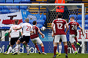 Northampton Towns Michael Smith (24) scores the first goal of the game 0-1 during the EFL Sky Bet League 1 match between Bolton Wanderers and Northampton Town at the Macron Stadium, Bolton, England on 18 March 2017. Photo by Craig Galloway.