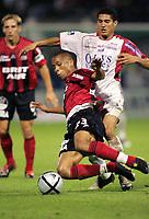 Fotball<br /> Frankrike 2004/05<br /> 2. divisjon<br /> Guingamp v Nancy<br /> 24. september 2004<br /> Foto: Digitalsport<br /> NORWAY ONLY<br /> AURIOL GUILLAUME (GUI) / MICHAEL CHRETIEN (NAN)