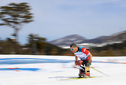 Canada's Chris Klebl competes in the Men's 7.5km, Sitting Cross Country Skiing, at the Alpensia Biathlon Centre during day eight of the PyeongChang 2018 Winter Paralympics in South Korea