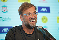 SOUTH BEND, INDIANA, USA - Thursday, July 18, 2019: Liverpool's manager Jürgen Klopp during a press conference ahead of the friendly match against Borussia Dortmund at the Notre Dame Stadium on day three of the club's pre-season tour of America. (Pic by David Rawcliffe/Propaganda)