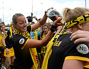 Den Bosch's Maartje Paumen celebrates after wiining the final of the EHCC 2017 at Den Bosch HC, The Netherlands, 5th June 2017