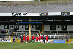 SWANSEA, WALES - TUESDAY MARCH 22nd 2005: Wales players during training at Swansea City's Vetch Field Stadium. (Pic by David Rawcliffe/Propaganda)