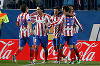 09.12.2012 SPAIN -  La Liga 12/13 Matchday 15th  match played between Atletico de Madrid vs R.C. Deportivo de la Courna (6-0) at Vicente Calderon stadium. The picture show Radamel Falcao Garcia (Colombian striker of At. Madrid)