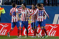 09.12.2012 SPAIN -  La Liga 12/13 Matchday 15th  match played between Atletico de Madrid vs R.C. Deportivo de la Courna (6-0) at Vicente Calderon stadium. The picture show Radamel Falcao Garcia (Colombian striker of At. Madrid)