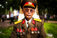 A portrait of a Vietnamese general in Hanoi, Vietnam.