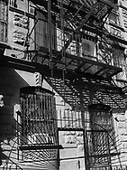 Fire escapes on West 102 Street