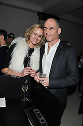 BODIL BLAIN and DINOS CHAPMAN at a private dinner hosted by Lucy Yeomans in honour of Jason Brooks at The Cafe Royal, Regent Street, London on 13th February 2013.