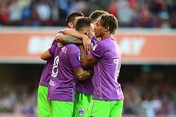 Josh Brownhill of Bristol City celebrates his goal with team mates - Mandatory by-line: Dougie Allward/JMP - 15/08/2017 - FOOTBALL - Griffin Park - Brentford, England - Brentford v Bristol City - Sky Bet Championship