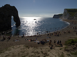 UK ENGLAND DURDLE DOOR 19AUG12 - Sunbathers enjoy the sunny weather at Durdle Door, a landmark tourist attraction on the Dorest coast...jre/Photo by Jiri Rezac..© Jiri Rezac 2012