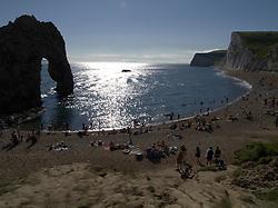 UK ENGLAND DURDLE DOOR 19AUG12 - Sunbathers enjoy the sunny weather at Durdle Door, a landmark tourist attraction on the Dorest coast...jre/Photo by Jiri Rezac..© Jiri Rezac 2012