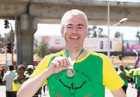 22/11/2015  repro fee. A group of  irish people travelled with Gorta-Self Help Africa travelled to the capital of Ethiopia Addis Ababa for the great Ethiopian run. In temperatures in the mid 30 degree heat and 40,000 people and a city at 7,500 feet above sea level, it's no mean feat.  Karl Coffey from Dublin finish the race in a great time  .  Photo:Andrew Downes.