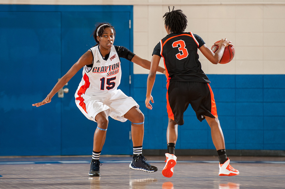 Nov. 30, 2013; Morrow, GA, USA; Clayton State University's women's forward/center Shacamra Jackson during the game against Tusculum University at CSU. CSU won 89-61. Photo by Kevin Liles / kevindliles.com