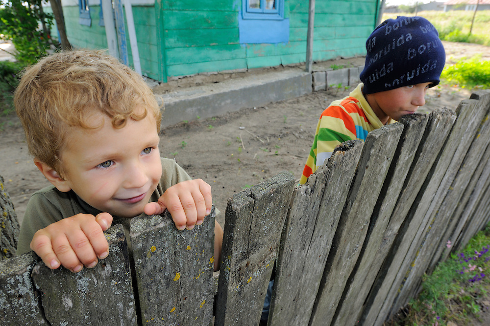 Young boys, Letea, Danube delta rewilding area, Romania