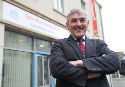 DUP Candidate Tom Buchanan in Omagh canvasing for the upcoming West Tyrone by-election.