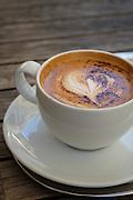 Cappuccino in Lisbon's Kaffehaus in the Chiado neighborhood.