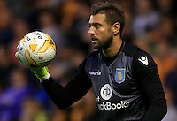 Aston Villa's goalkeeper Mark Bunn  during the pre-season friendly at Molineux, Wolverhampton.
