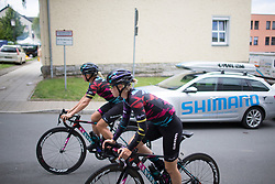 Tiffany Cromwell (AUS) of CANYON//SRAM Racing rides to the start of Stage 1 of the Lotto Thuringen Ladies Tour - a 124.8 km road race, starting and finishing in Schleiz on July 13, 2017, in Thuringen, Germany. (Photo by Balint Hamvas/Velofocus.com)