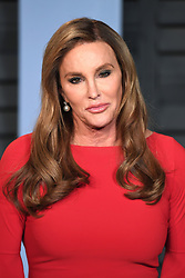 Caitlyn Jenner arriving at the Vanity Fair Oscar Party held in Beverly Hills, Los Angeles, USA.