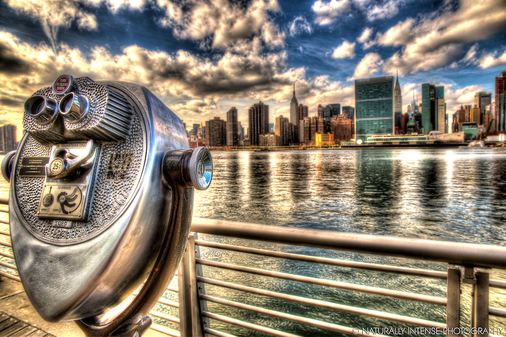 View from Long Island City- New York City Sightseeing HDR Photography