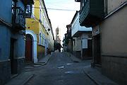 Toward the plaza in Potosi, Bolivia