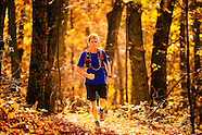 fall running in blue ridge mountains