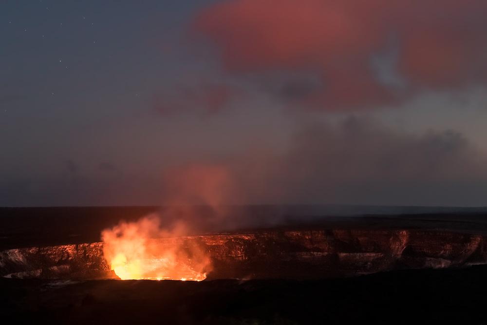 Lava lake,  Halema'uma'u Crater, Volcanoes National Park