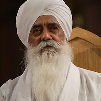 Mohinder Singh, the chairman of the Guru Nanak Nishkam Sewak Jatha in Birmingham, England,  a strong proponent of interreligious dialogue. Edinburgh, May 2006<br />