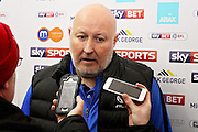 Coventry City Manager Russell Slade was disappointed after a late equaliser for Peterborough after the EFL Sky Bet League 1 match between Peterborough United and Coventry City at London Road, Peterborough, England on 31 December 2016. Photo by Nigel Cole.Peterborough United striker Shaquille Coulthirst (17)