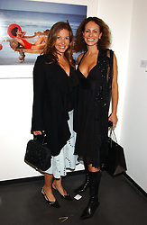 Left to right, EMILY CASH who was married to tennis player Pat Cash and ANDREA DELLAL at a party to celebrate the opening of an exhibition of photographs by the late Norman Parkinson held at Hamiltons gallery, 13 Carlos Place, London W1 on 14th September 2004.<br />